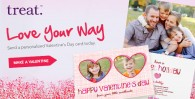 Valentine's Day Cards by Treat, save 20% off your order!
