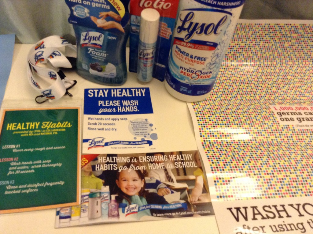 Lysol Campaign Materials from BlogHer14 Booth