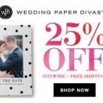 Sale: Wedding Paper Divas 25% Off Sitewide!