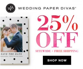 Sale: Wedding Paper Divas 25% Off Sitewide!