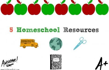 Homeschool Resources Post