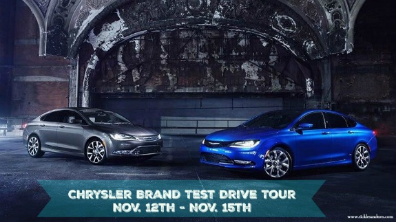 **Free Local Event** Chrysler Brand Test Drive Tour