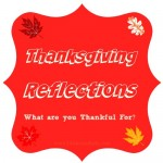 New on the Blog: {Thanksgiving Reflections}