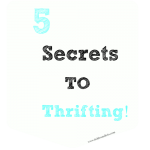 5 Secrets to Thrifting! {How I Save Money!!}