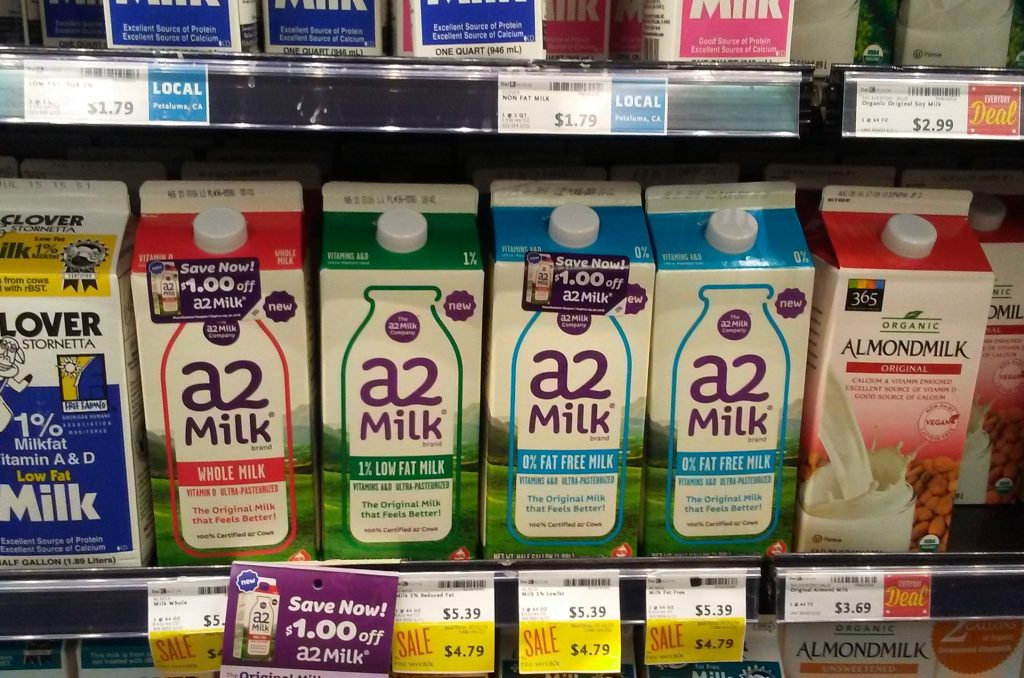 a2 Milk in Stores